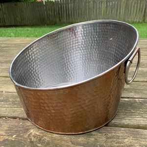 Other - Rose Gold Hammered Stainless Steel Beverage Tub